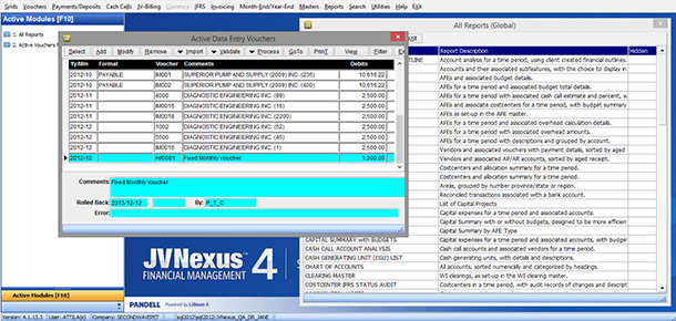 The Dashboard of JVNexus 4.1