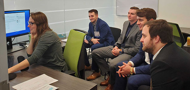 West Virginia University students visit Pandell's Houston offices